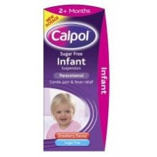 Calpol Infant Sugar Free+ Colour free Suspension